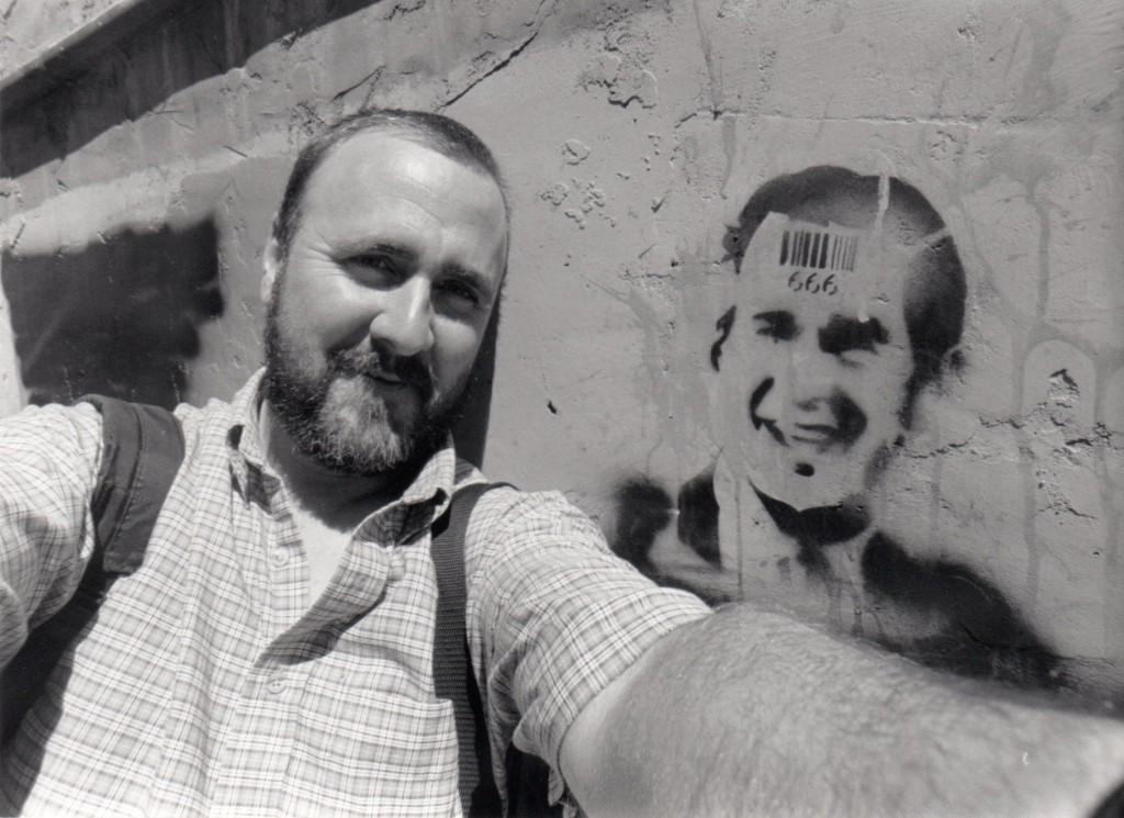 Mark & Bush on Flagstaff Wall 2003